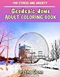 GEODESIC DOME Adult coloring book for stress and anxiety: GEODESIC DOME sketch coloring book Creativity and Mindfulness