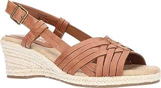 Easy Street Women's Wedge Sandal, Tan, 5.5