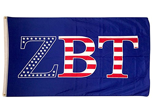 Zeta Beta Tau USA Pattern Letter Fraternity Flag Banner 3 feet x 5 feet Sign Decor ZBT (Flag - USA)