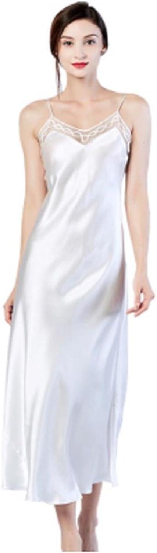 DMMSS Lady Silk Pajamas Mulberry Silk Handmade Harness Pajamas Skirt Casual Face Dress
