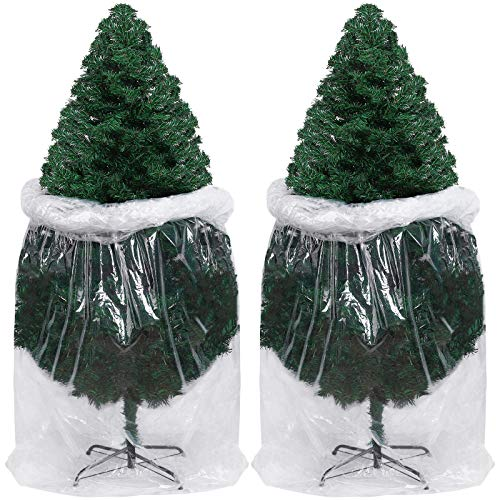 URATOT 2 Pack Large Christmas Tree Storage Bag Poly Storage Bag Christmas Tree Plastic Bag Christmas Tree Removal Bag 9 x 4 Feet