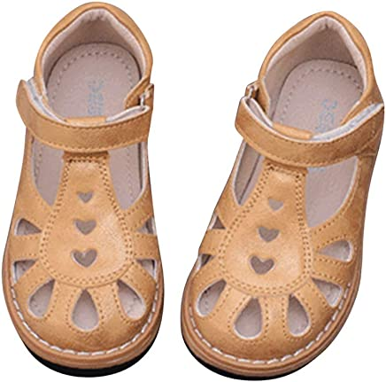 Mubeuo Cute Flower Anti-Skid Leather Toddler Sandles Sandals for Girls