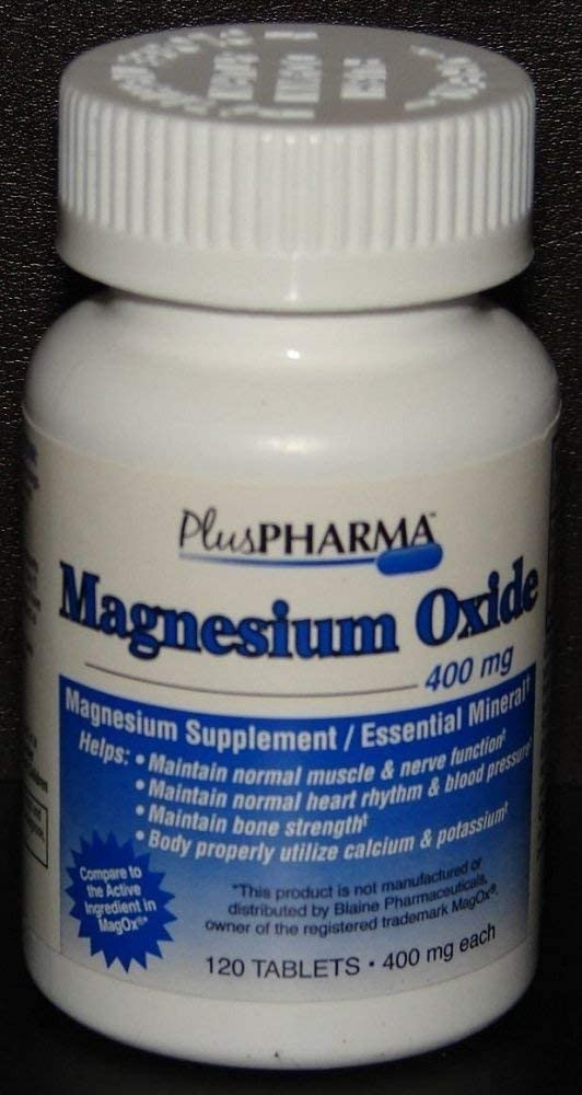 Magnesium Oxide Tablets 400mg Pack 4 120ct Max 71% OFF Ultra-Cheap Deals