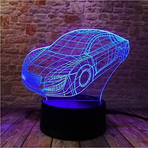 Nachtlicht 3D LED Illusionslampe Nachtlicht Cartoon Auto 7 Farbe Dimmen Home Nachtlicht Dekor Baby Schlafzimmer Geburtstagsfeier Lampe Kinder S Tag Weihnachten Geschenke