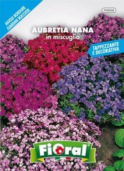 Sementi da fiore di qualità in bustina per uso amatoriale (AUBRETIA NANA IN MISCUGLIO)