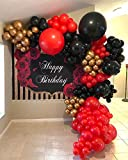 Red Black Metallic Gold DIY Balloon Arch Garland Kit-Party Supplies Metallic Gold, Red, Black Balloons for Baby&Bridal Shower, Birthday Party, Wedding, Grad, Anniversary Party