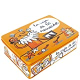 Laroom 13577 - Caja metálica la caja de recuerdos, color naranja