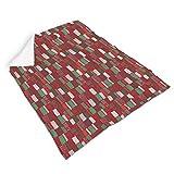 Magiböes Franela de Navidad, diseño abstracto de rayas, sin costuras, para...