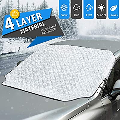 ELUTO Car Windshield Snow Cover Magnetic Car Su...