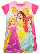 Kids Disney Princess night gown Featuring a pink night gown with Princesses Rapunzel, Ariel, Cinderella, Belle and Aurora Make a royal addition to your Princesses nightwear! The perfect nightie for mornings on the sofa watching their favourite Disney...