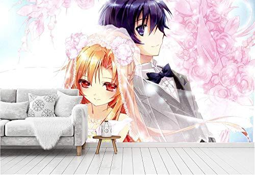 AZYVv Anime Wallpapers Sword Art Online 3D-Fototapete für Schlafzimmer, Wohnzimmer, Esszimmer, TV-Hintergrundwand und Bardekoration
