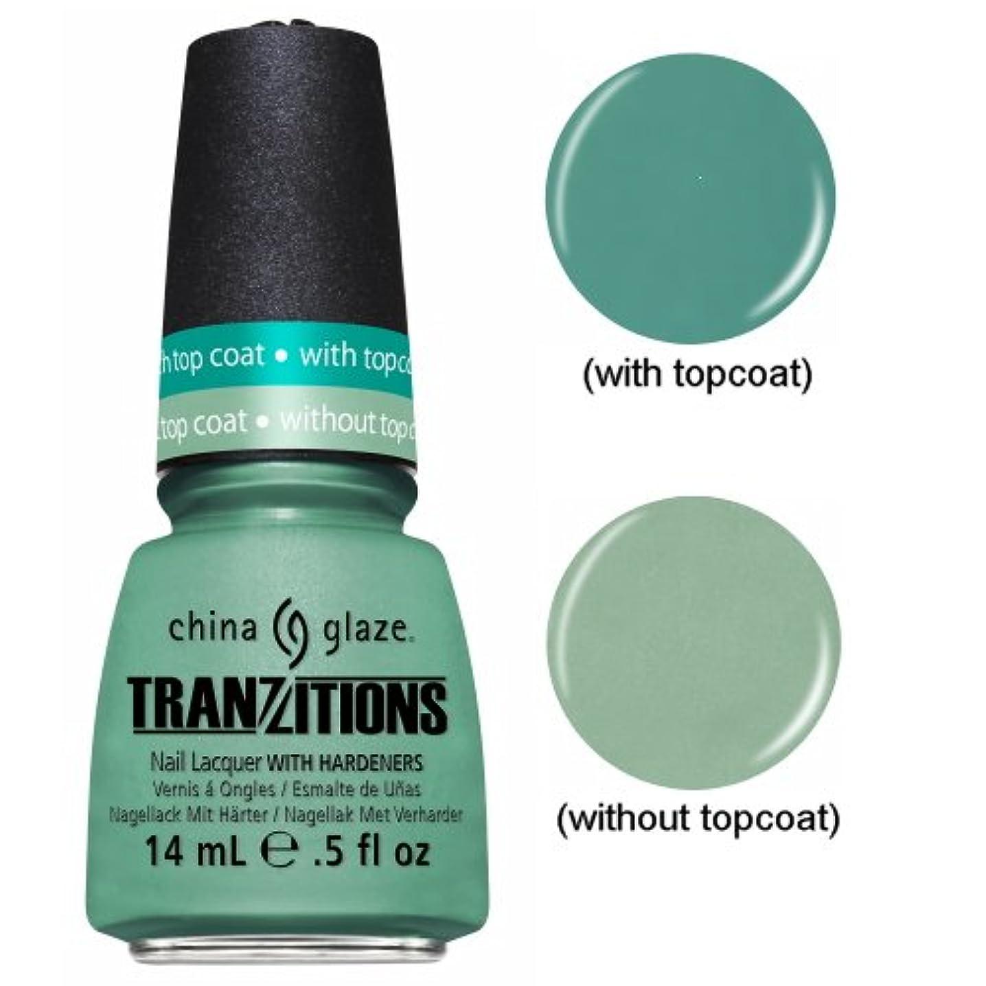 つぼみかみそり汚物CHINA GLAZE Nail Lacquer - Tranzitions - Duplicityy (並行輸入品)