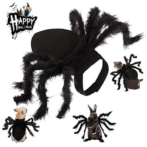 Kuoser Disfraz de ala de Araña para Halloween para Perros pequeños y Gatos, Ajustable, Divertido, Accesorio de Cosplay, simulación de Horror de Felpa, decoración para Gatitos y Cachorros