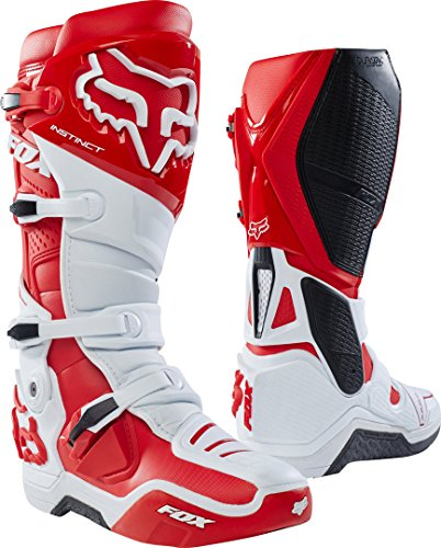 FOX Bottes Instinct 2.0, blanc/rouge, taille 11