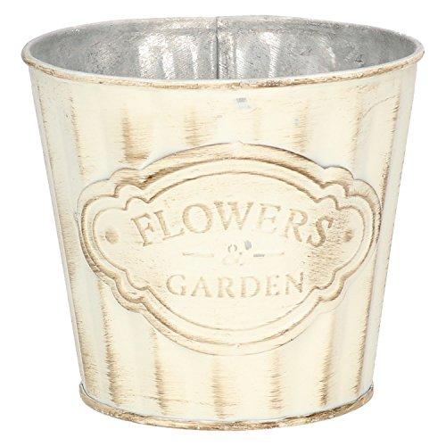 AmaCasa Pot Nostalgie Vintage pour la dcoration en mtal Flower & Garden