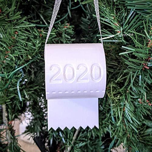 VWsiouev 2020 Navidad ornamento papel higiénico crisis, Navidad papel higiénico papel ornamento, cuarentena 2020...