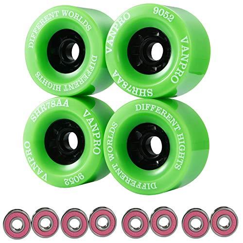 vanpro DIY Elektro-Skateboard Longboards Rad 90 mm 9052 PU für Cruising, Carving, Free-Style, Räder Schwungräder 608RS Kugellager Cored Classics Wheel