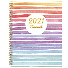 🌈 JANUARY - DECEMBER 2021 - Featuring 12 months of weekly and monthly pages and holidays marked. With weekly and monthly sections for easy planning and scheduling. Colorful and fun cover for a better visual enjoyment. Focusing on easy planning and sc...