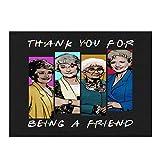 The Golden Girls Thank You for Being A Golden Friend - Alfombrilla de secado para platos (30,5 x 40,6 cm), diseño de pollo seco