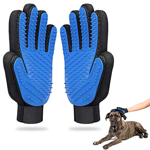 Haustier Bürsten Handschuh Pet Fellpflegehandschuh Haarentferner Bürste für Hund Katze Fellpflege Reinigen Haustier Grooming Bürsten Deshedding Glove Fusselbürste Handschuhe für Haustiere (2 Stück)