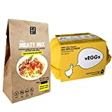 Multi-Packs  Sustitutos de Carne y Sustitutos de Huevo : vEGGs Sustituto de Huevo 100% Vegano basado en plantas | Mezcla de Carne Vegana Instantánea | Vegano | 100% Sin Gluten