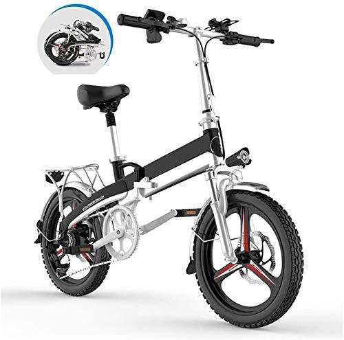 Bici electrica, Plegable bicicleta eléctrica for los adultos, 20' Electric montaña de la bicicleta / conmuta E-bici, montar a caballo de tres modos Assist Alcance Hasta 60-80Km for la ciudad de Tráfic