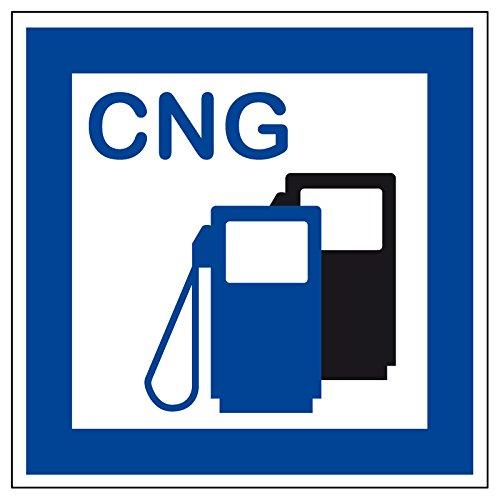 Schild für erneuerbare Energien - CNG Erdgas Tankstelle - Kunststoff - 40 x 40 cm