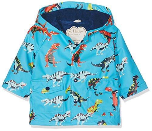 Hatley Printed Rain Jacket Manteau, Bleu (Roaring T-Rex 400), 9-12 Mois Bébé garçon