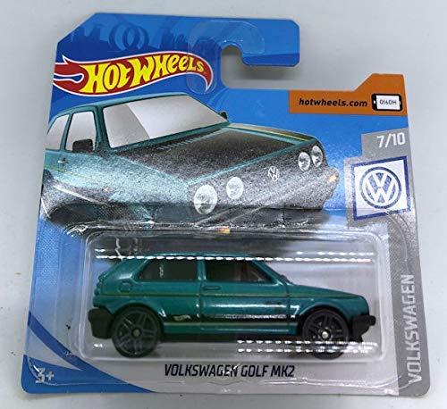 2019 Hot Wheels Volkswagen Golf MK2 Green 7/10 Volkswagen 68/250 (Short Card)