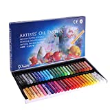 Soft Oil Pastels Cardboard Box Set of 50 Standard Assorted Colors Non-Toxic Oil Pastels Art Supplies Professional Drawing Pastel for Kid Washable Round Painting Sticks Artist Oil Pastels Set for Adult