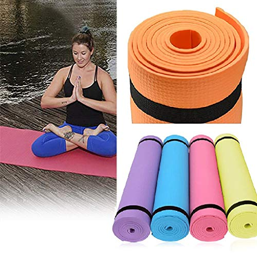 Best Deals! 4MM EVA Thick High Density Anti-Tear Exercise Yoga Mat Exercise Pad Health Lose Weight F...