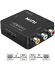 HDMI to RCA 変換コンバーター GANA HDMI to AV コンポジット HDMIからアナログに変換アダプタ 1080P 音聲出力可 USB給電 Xbox PS4 PS3 カーナビなど対応 … (hdmi to av黒)