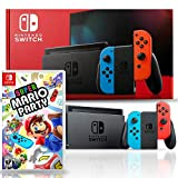 Nintendo Switch with Neon Blue and Red Joy-Con Bundle with Super Mario Party