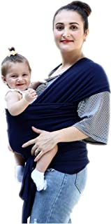 Baby Wrap Ergo Carrier Sling for Newborns + Toddlers, Extra Soft & Lightweight Baby Wraps, Easy Wearing and Carrying of Babies, Best Baby Shower Gift (Navy Blue)