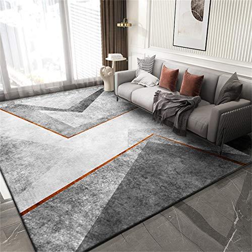 HAI Alfombras, Lavado con Agua Alfombra Gris O Sala De Estar Sofá Mesa De Centro Dormitorio(Size:200 * 300cm,Color:Gris con tapetes)