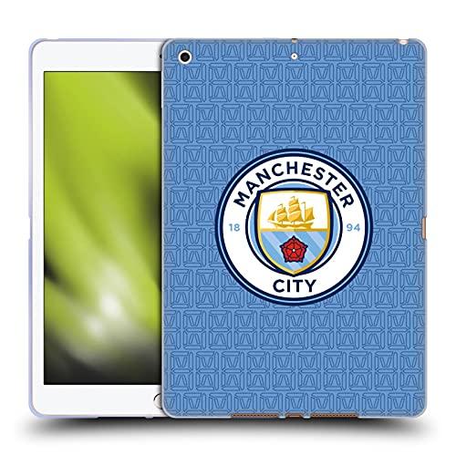 Head Case Designs Licenciado Oficialmente Manchester City Man City FC Home 2021/22 Badge Kit Carcasa de Gel de Silicona Compatible con Apple iPad 10.2 (2019)/(2020)