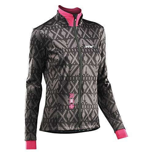 Northwave Allure TP dames fiets regen/winterjas zwart/grijs/roze 2020
