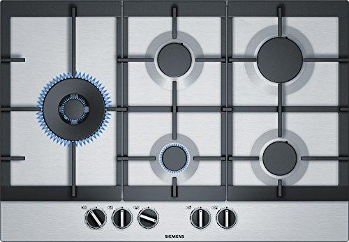 Siemens EC7A5SB90 Plaque à gaz en acier inoxydable 75 cm
