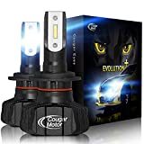 Cougar Motor H4 Led bulb, 6500K (9003 High/Low) Fanless Conversion Kit - 3D Bionic Technology, 360°Adjustable Beam, Quick Installation, Replacement Low Fog Light