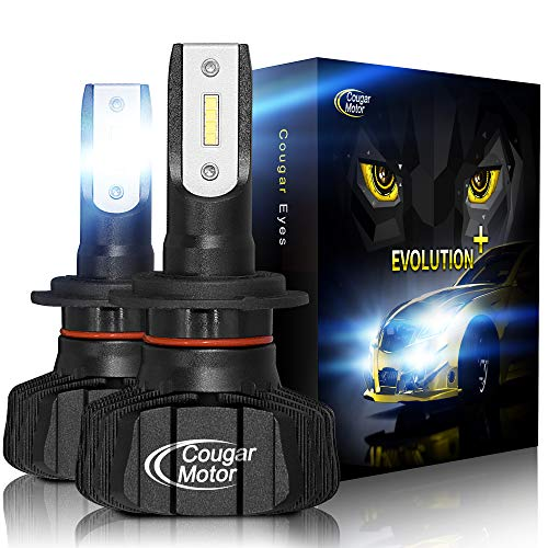 Cougar Motor H7 Led bulb, 6500K Fanless Conversion Kit - 3D Bionic Technology, 360