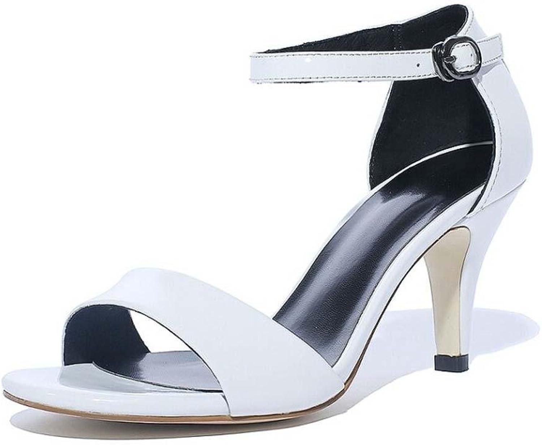 Beauqueen Scarpin Sandalen Pumps Einfache Leder Mädchen Frauen Casual Knöchelriemen Elegant schwarz Blau Schuhe Europa Größe 34-39  | Hohe Qualität und Wirtschaftlichkeit