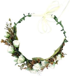 Künstliche Blumen Haarkranz Haarband Stirnband Haarreif mit Tüll Deko für