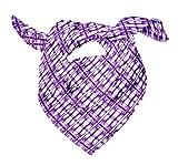 Bimba Purpura tresillo tie-dye Pañuelos de seda impresos para el cuello de la bufanda del pelo del verano del abrigo puro 40 x 80 Pulgadas