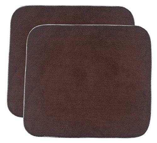 SINLAND Panno di pulizia del panno di pulizia del panno del microfibra assorbente del tessuto del panno di panno del microfibra 12inchx12inch 12 Pack nero