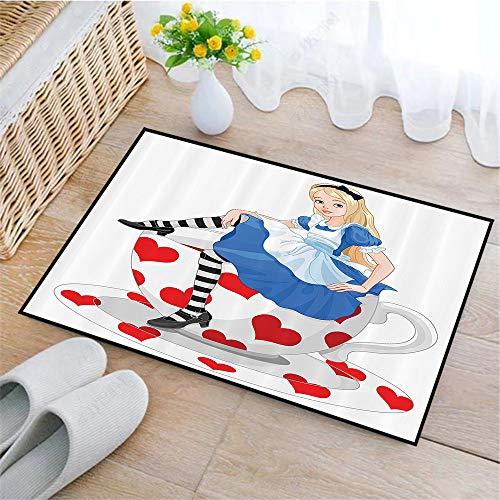 Bianco E Nero Set per Il Bagno in Tessuto con Ganci Alice E İl Dodo Sketch ABAKUHAUS Alice Tenda da Doccia Stalla 120 x 180 cm