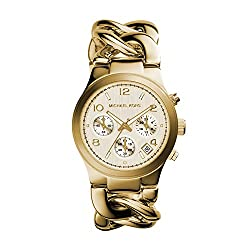 This image shows Michael Kors Runway Gold which is one of the best watches for teenagers