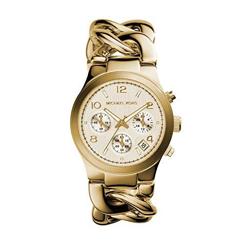 Relógio feminino Michael Kors Runway dourado MK3131