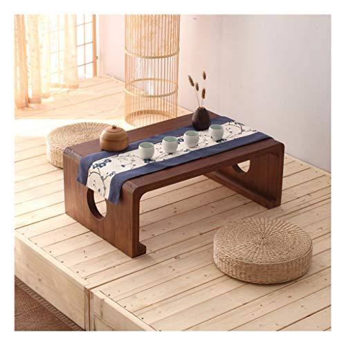 liushop Mesa de Centro Mesa de Madera Maciza Zen Japanese Kang Table Home Low Table Bay Ventana Pequeña Mesa Balcón Mesa de té Tatami Mesa de Centro Mesitas de salón para el café (Color : F)