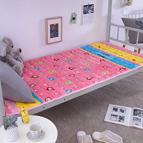GJP Colchón de Franela, colchón de Tatami Doble cálido Transpirable Individual. para Dormitorio de Estudiantes Habitación Familiar-L 90x190cm (35x75 Pulgadas)