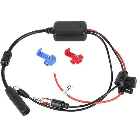FM Signal Amplifier,Car FM Radio Signal Amplifier Car DAB+/FM Radio Signal Reception Antenna Amplifier SMA Head Car Stereo Antenna